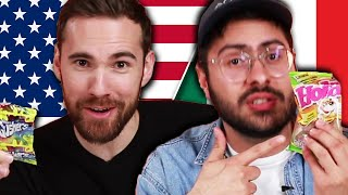American & Mexican People Swap Snacks