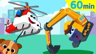 Kids Song Collection | Excavator Helicopter | Sing Along with TidiKids