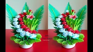 How To Make Beautiful  Paper Flower Bouquet || Room Decoration Idea.