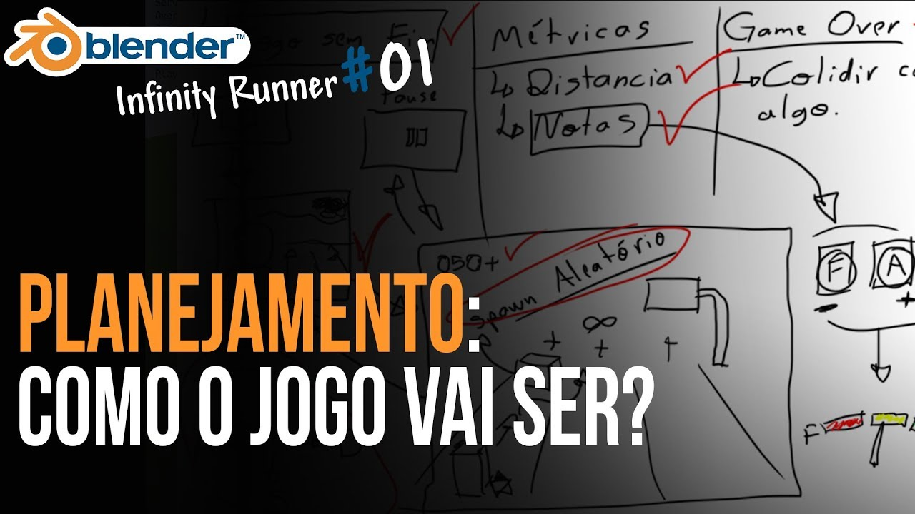 Planejando o game | Curso: Infinity Runner na BGE (UPBGE)
