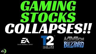 GAMINGS STOCKS COLLAPSES!!! (EA, TTWO, AND ATVI DROPS)