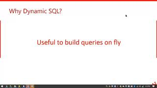 Understanding Dynamic SQL – The Right Way by Satya Ramesh