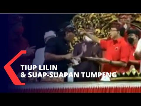 Syukuran PDIP Bali Disorot Usai Tiup Lilin dan Suap-suapan Tumpeng