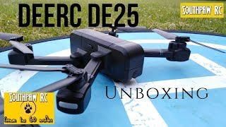 DEERC Holy Stone DE25 GPS Drone Unboxing 2019
