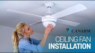 How to Install a Ceiling Fan   Canarm