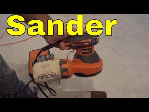 Ridgid 5 Inch Random Orbit Sander Review-Dustless Sanding