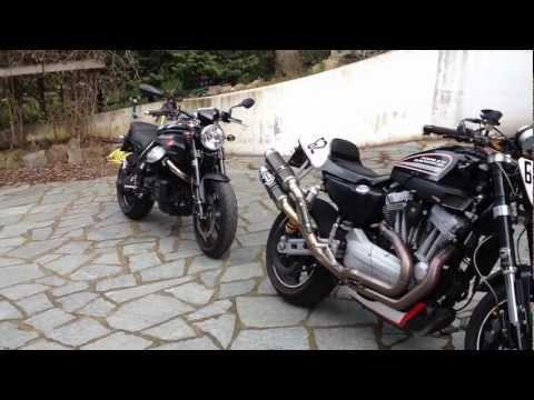Moto Guzzi Griso 8v SE vs Harley Davidson XR1200R SOUND