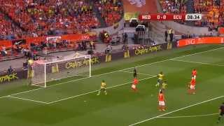Highlights Netherlands - Ecuador 1-1 friendly 17-05-2014