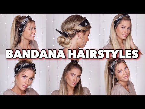 5 SUPER EASY Bandana Hairstyles | MRS BELLA