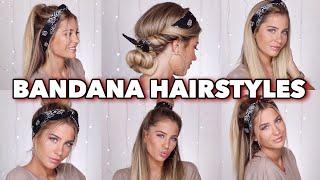 5 SUPER EASY Bandana Hairstyles | MRS BELLA