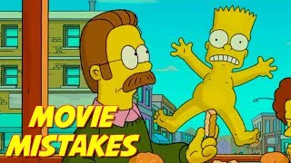 Simpsons Movie - Mistakes That Slipped Through Editing | The Simpsons Fails | Bart Simpson Goofs