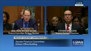 Wyden: Mnuchin exemplifies special rules for the rich