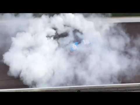 Kyle Busch's Winning Burnout at Indy