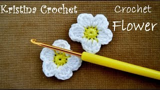How To Crochet Small Flower Tutorial