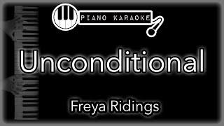 Unconditional   Freya Ridings   Piano Karaoke