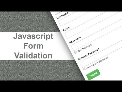 video tutorial on Javascript Form Validation