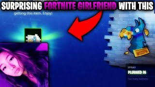 Surprising my FORTNITE Girlfriend with NEW 'RARE' ITEM...