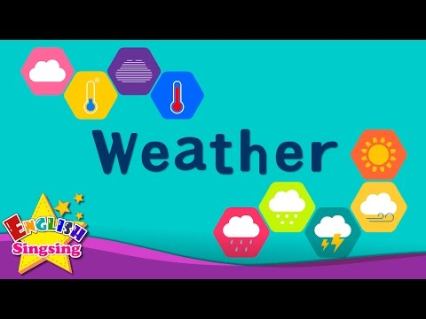 Kids vocabulary - Weather - How's the weather? - Learn English for kids - English educational video