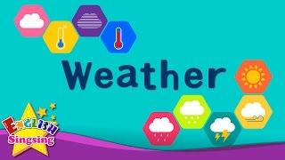 Kids vocabulary - Weather - How