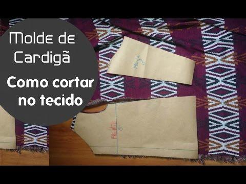 Aula 33 Cortando no tecido molde cardigã  Alana Santos Blogger