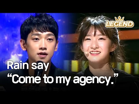"Youngest contestant's charisma makes Rain say, ""Come to my agency."" [The Unit/2017.12.07]"