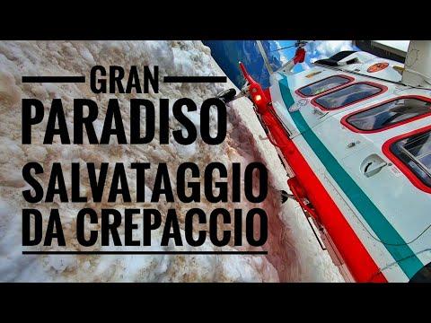SALVATAGGIO DA CREPACCIO - GHIACCIAIO LAVECIAU - 3200MT - GRAN PARADISO - SOCCORSO ALPINO