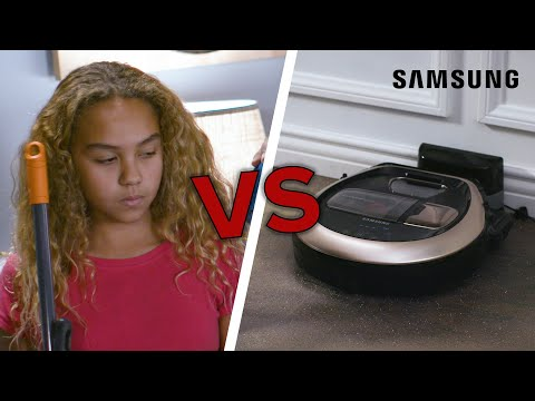 Kids Vs. Machines: Vacuum // Presented By Samsung Home Appliances