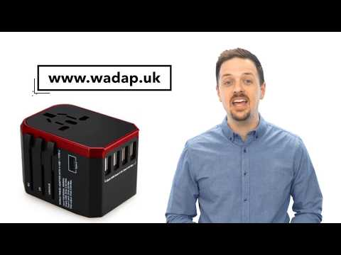 WADAP Adapter Charger with 5 USB for Worldwide Sockets, Fast Charging