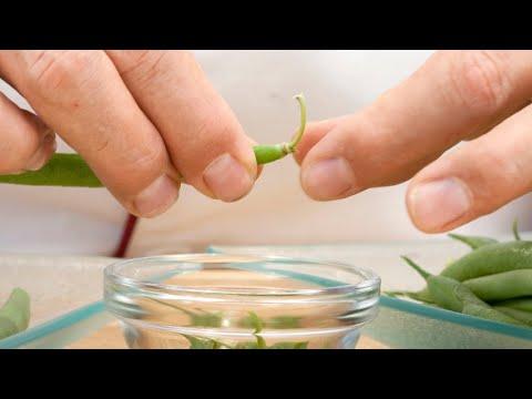 Πως να καθαρίσετε πράσινα φασολάκια χωρις μαχαίρι