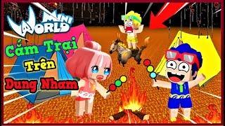 Mini World: Thử thách 24 giờ cắm trại trên lửa dung nham cùng bộ 3 bá đạo và cái kết | Phong Cận Tv