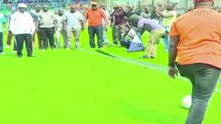 CORD Leader Raila Odinga playing football with Governor Joho at Kongowea Stadium: Un-Aired Exclusive