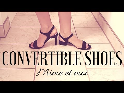 CONVERTIBLE SHOES! Mime et Moi Interchangeable Heels Review| Lucy's Corsetry