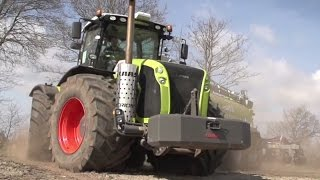 Big Machines: Claas Xerion 5000 Traktor with Vogelsang XTill