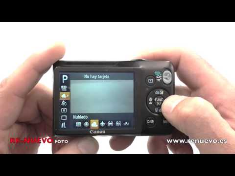 Comprobación del menú de una cámara digital compacta