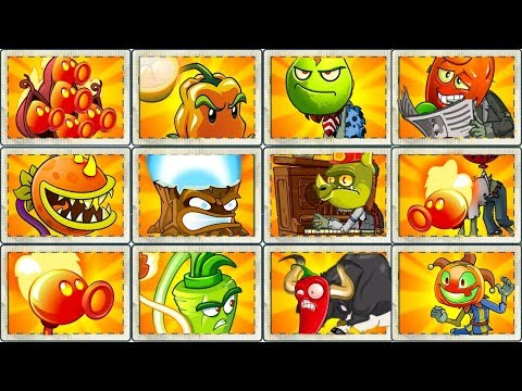 Plants vs Zombies 2 All Fire Plants vs Every Hard Zombies - Every Plant Power UP Gameplay PVZ 2
