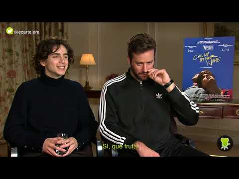Timothée Chalamet  & Armie Hammer on Call me by your name