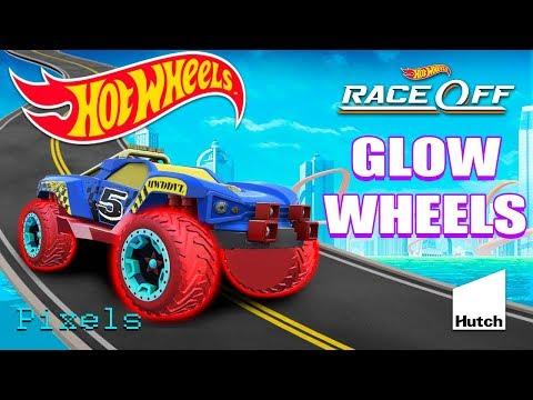 Hot Wheels Race Off Daily Challenge New Glow Wheels Car онлайн видео