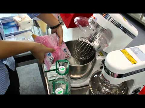 Video Step 2  Powder - Make Ice Cream by a 7 Quart Commercial Stand Mixer