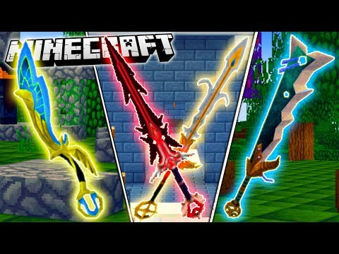 Minecraft GOD SWORDS MOD | FIGHT GIANT BOSSES WITH THE STRONGEST MINECRAFT SWORDS!!