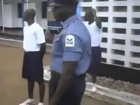 Nigeria navy cadets on hard training
