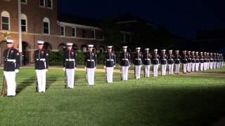 U.S Marines Silent Drill Team performing at Marine Headquarters