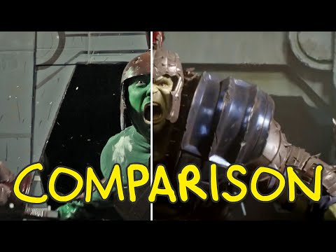 Thor: Ragnarok - Homemade Side by Side Comparison