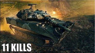 БЕЗ ТОРМОЗОВ 11 ФРАГОВ 🌟 XM551 Sheridan World of Tanks лучший бой на шеридан лт 10