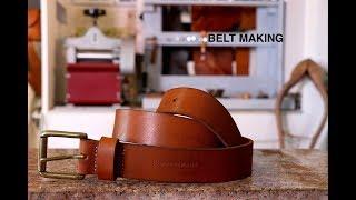 Making A Veg Tan Leather Belt Tutorial