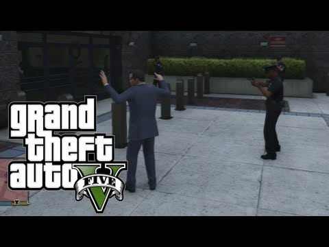 Don't Look At Cops In GTA V. They'll Kill You.