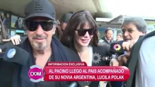 Al Pacino llegó a la Argentina acompañado de su novia Lucila Polak