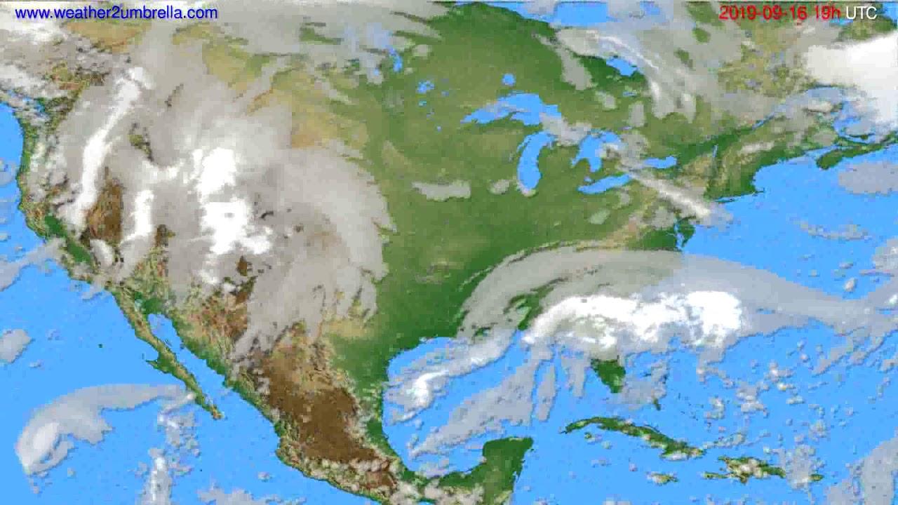 Cloud forecast USA & Canada // modelrun: 12h UTC 2019-09-13