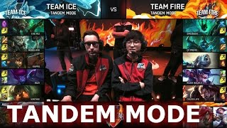 Faker + Bjergsen! Team Ice vs Team Fire Tandem mode   LoL All-Star Event 2016 Day 4