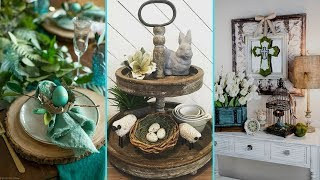 ❤DIY Shabby chic style Easter Table decor Ideas | Home decor & Easter Table setting| Flamingo Mango|