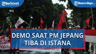 PM Jepang Kunjungi Istana Bogor di Tengah Aksi Unjuk Rasa Mahasiswa Tolak UU Cipta Kerja